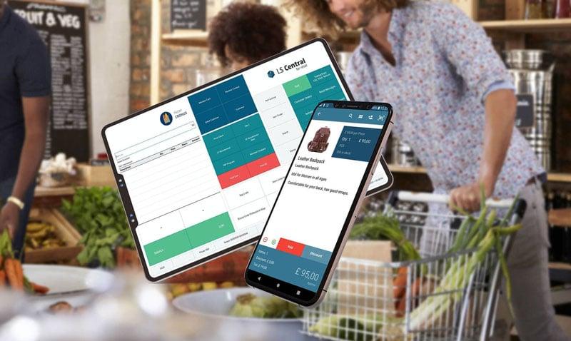 LS Central UI på en tablet og mobil