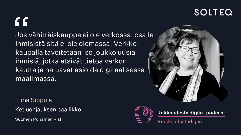Quote Tiina Sippula, Kontti-ketju