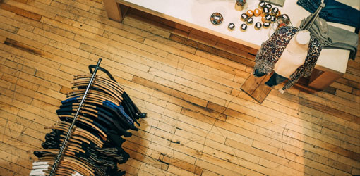 Solteq blog - small clothing retail shop from top view