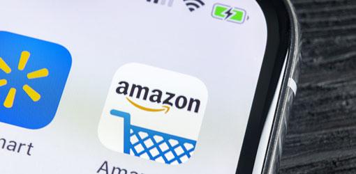 Amazon app ikoni puhelimen näytöllä