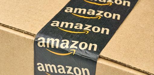 Amazon teipppaukset ruskessa pahvilaatikossa