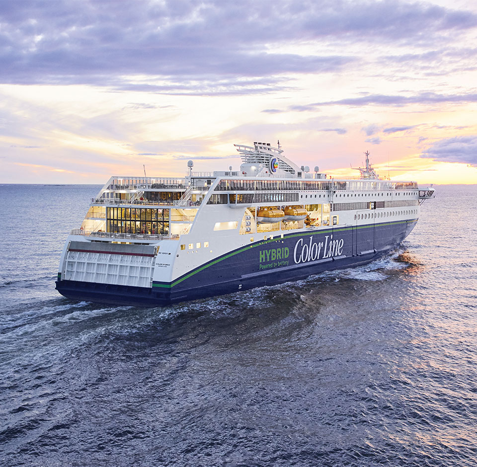 Color Line cruise ship on a sea