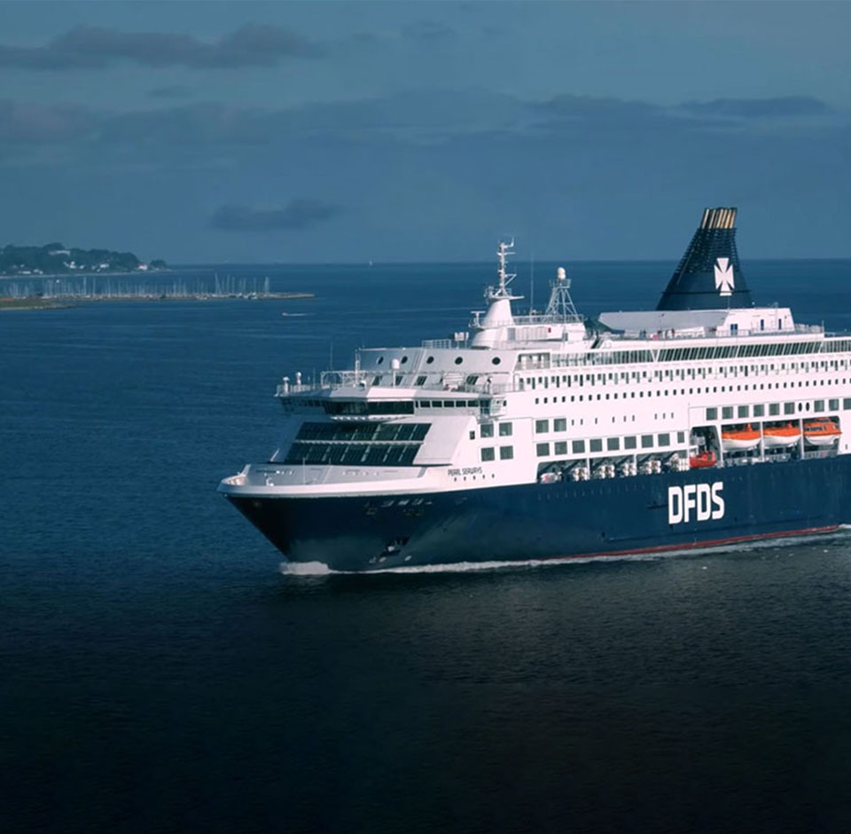 DFDS - cruise ship on a sea