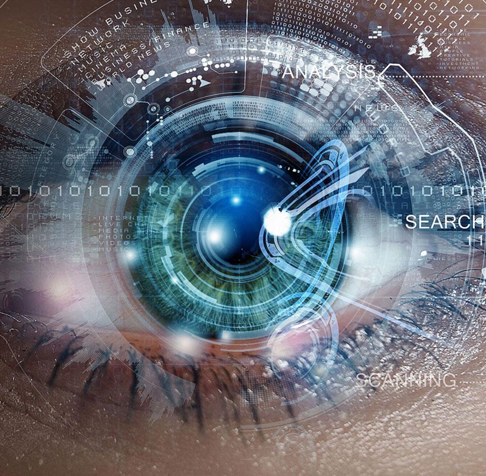 Eye close up - Deep Vision-tjeneste som forbedrer søgning på nettbutikker