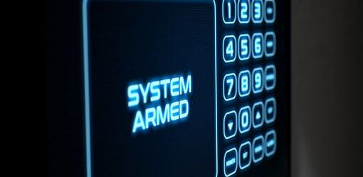 Berøringsskærm interaktivt hjemmets sikkerhedstastatur