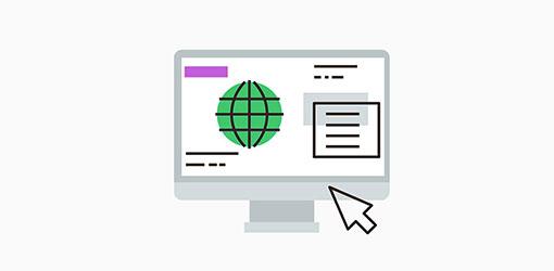 konversio-optimointi kuvituskuva missä tietokoneen näytöllä verkkosivun konversio-optimointia