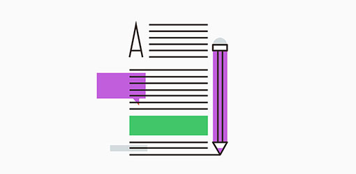 hakukoneoptimoinnin kuvituskuva missä kynä ja hakukoneoptimoitua tekstiä SEO tarpeita varten